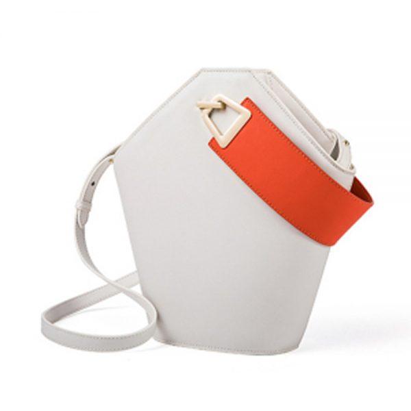 Bolsa feminina de couro Ella-Coral