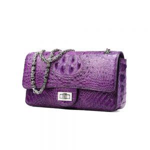 Bolsa de couro Ella Coral - Real alligator