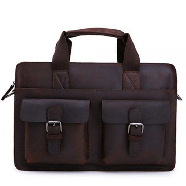 Bolsa masculina de couro Paqueta