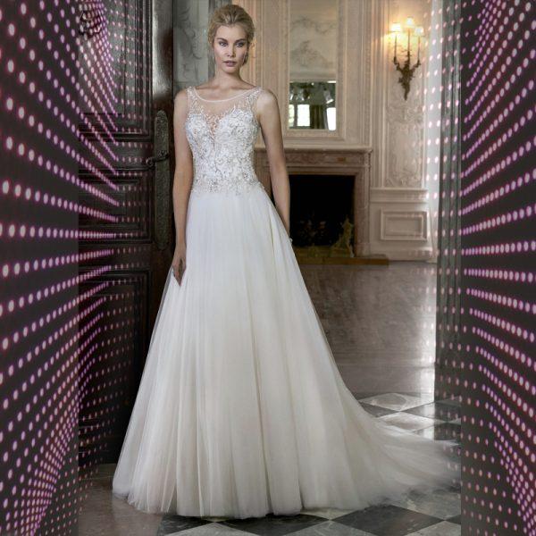 Vestido de noiva feito a mão modelo ELLAWEI-SC-101