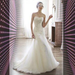 Vestido de noiva feito a mão ELLAWEI-SC-103