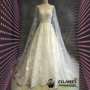 Vestido de noiva feito a mão modelo ELLAWEI-SC-109