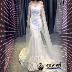 Vestido de noiva feito a mão modelo ELLAWEI-SC-117