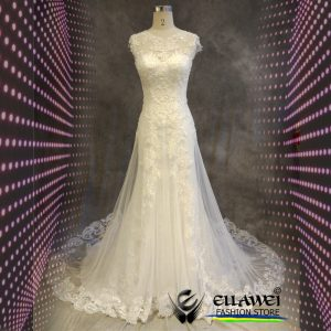 Vestido de noiva feito a mão modelo ELLAWEI-SC-123