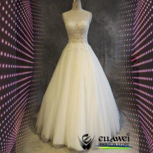 Vestido de noiva feito a mão modelo ELLAWEI-SC-124