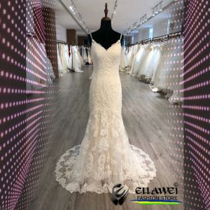 Vestido de noiva feito a mão modelo ELLAWEI-SC-129