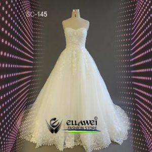 Vestido de noiva feito a mão modelo ELLAWEI-SC-145